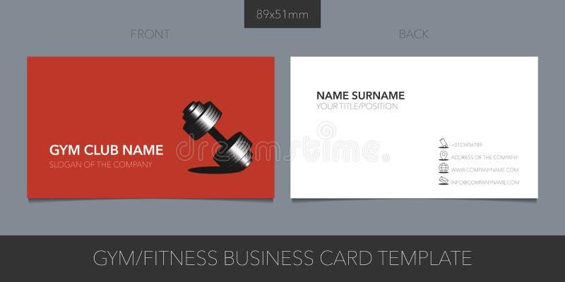Sporta klub, gym wektorowy wizytówka z układ logo, ikony i szablonu korporacyjnymi szczegółami, royalty ilustracja