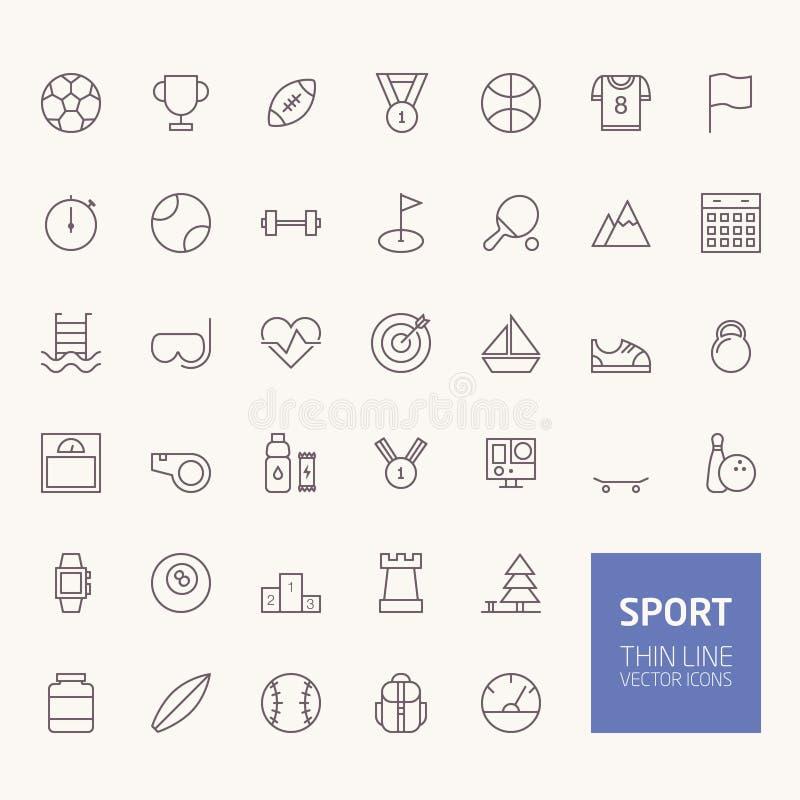 Sporta konturu ikony ilustracji