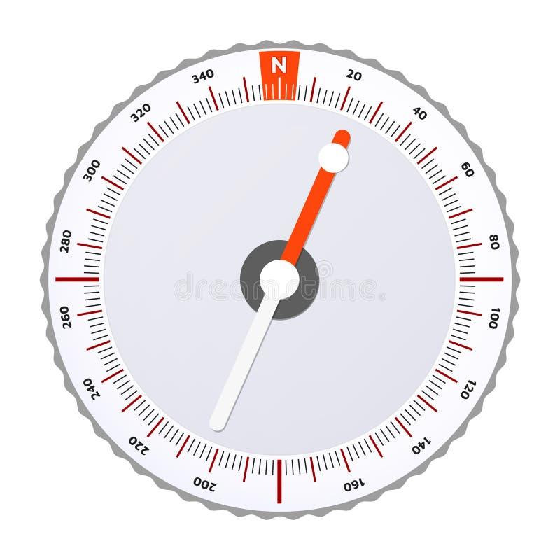 Sporta Orienteering kompas również zwrócić corel ilustracji wektora ilustracja wektor