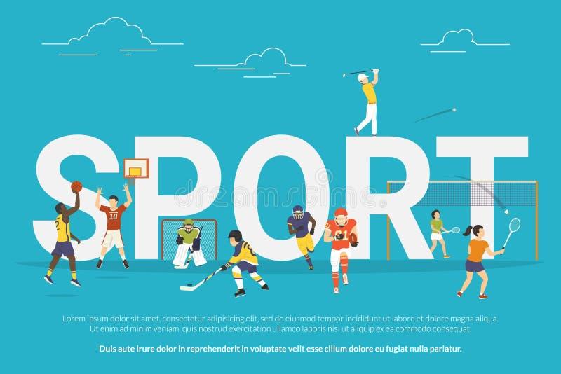 Sporta pojęcia ilustracja ilustracji