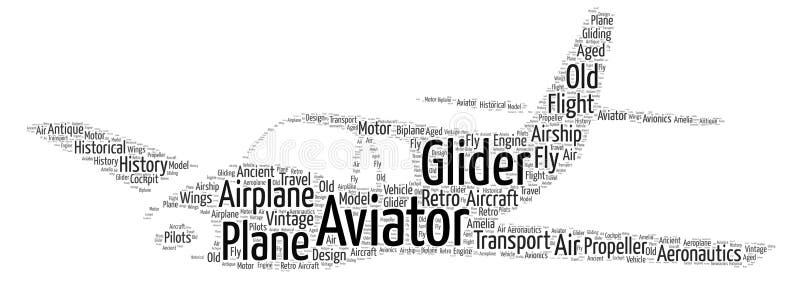Sporta słowa Samolotowa chmura royalty ilustracja