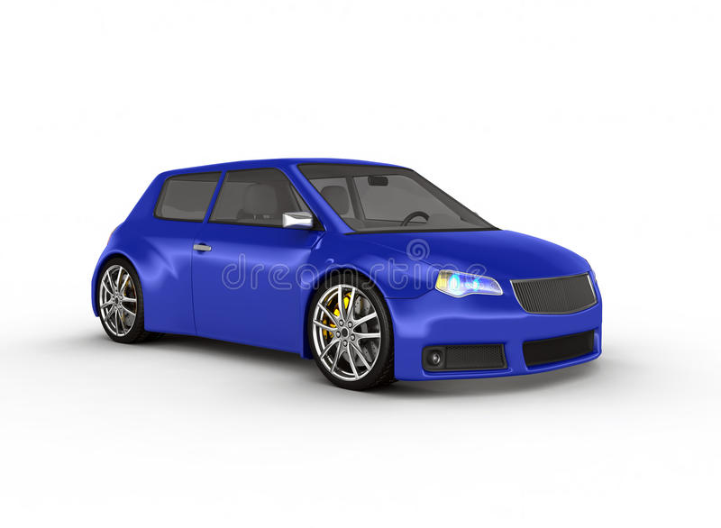Sporta samochód - 3d odpłacają się. ilustracja wektor