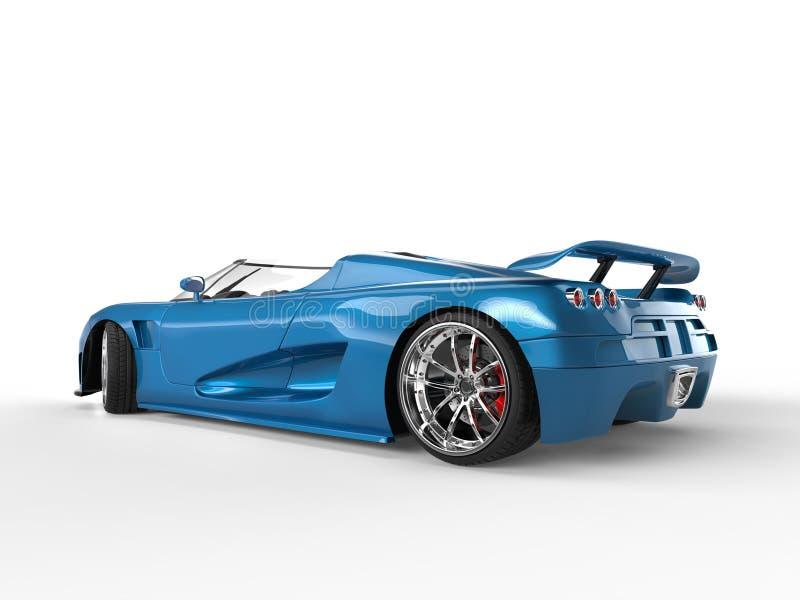 Sporta samochód - błękitna kruszcowa farba obraz stock