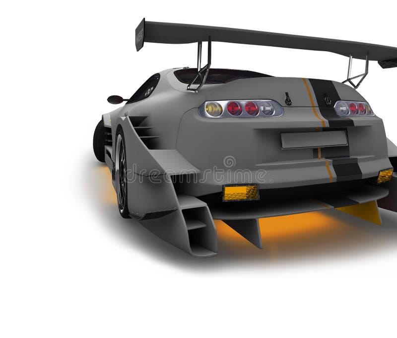 Sporta samochód dla ścigać się ściga się z grafika elementami Szczegółowa nauka wszystkie główne części maszyna ilustracja wektor