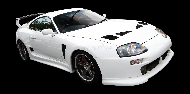 sporta samochodowy biel zdjęcia stock
