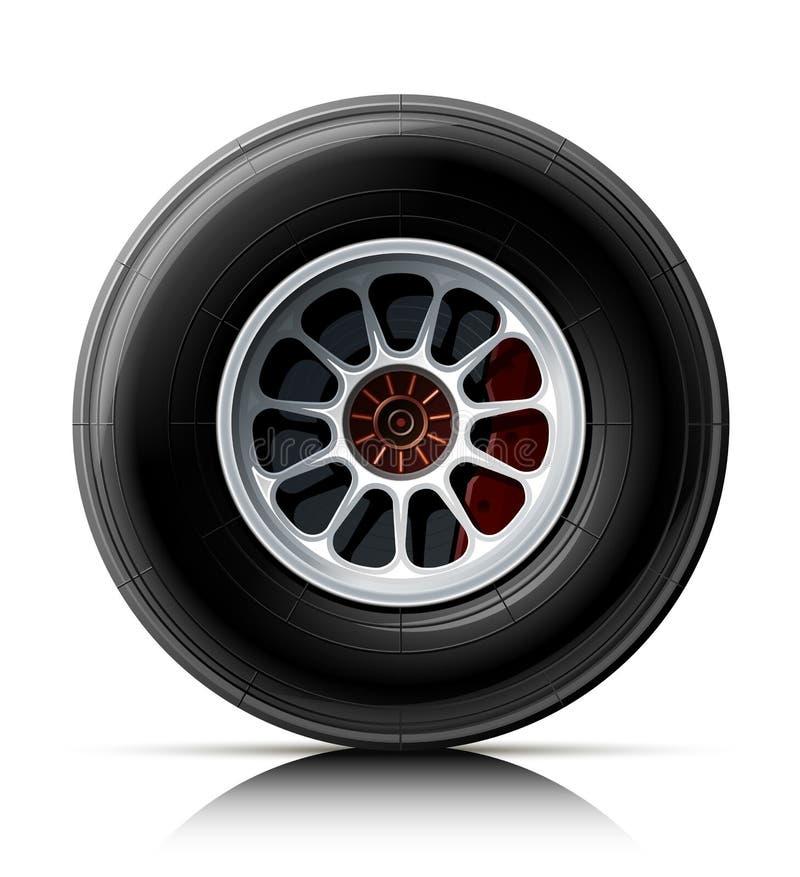 sporta samochodowy koło ilustracja wektor