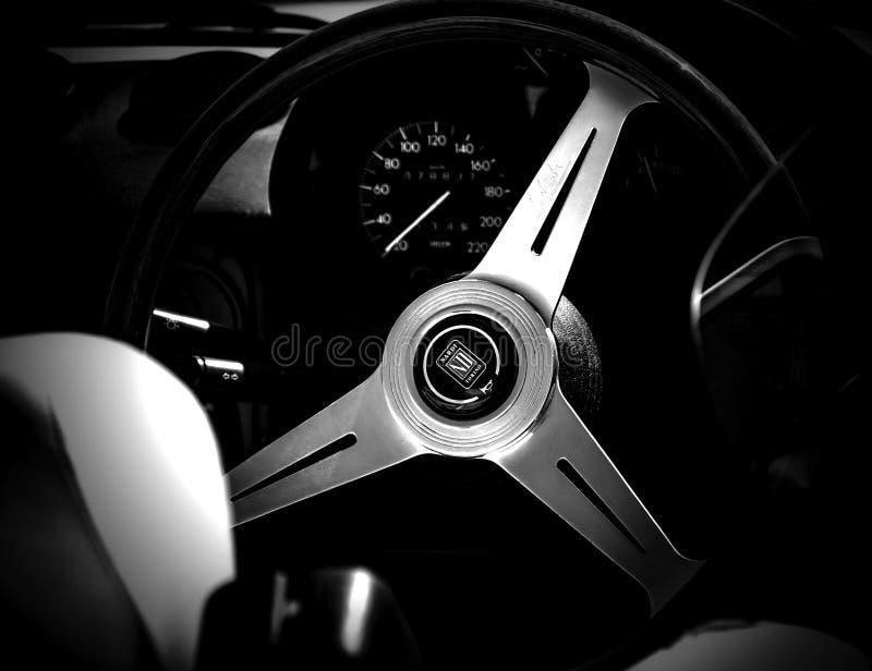 Sporta samochodu kierownica obrazy stock