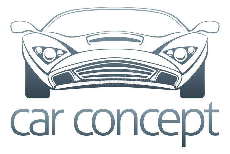 Sporta samochodu projekt royalty ilustracja