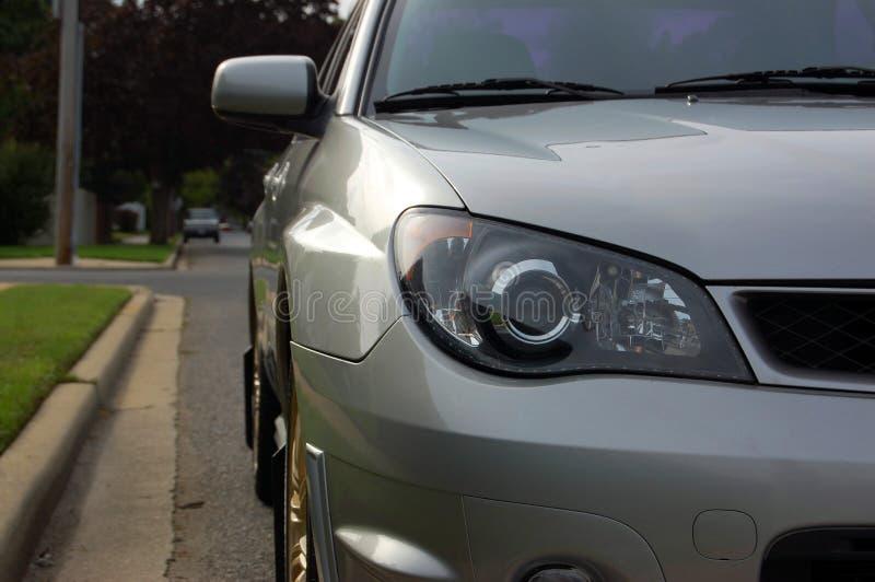 Sporta samochodu reflektor i profilowy obrazek obrazy royalty free