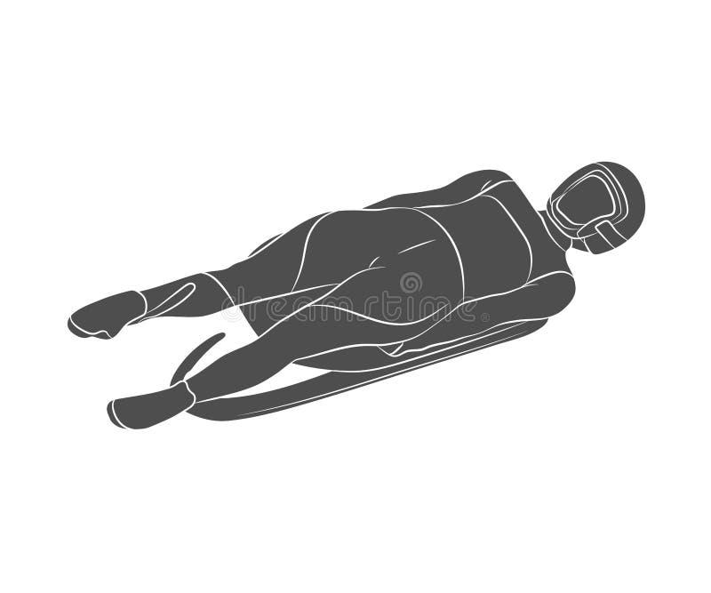 Sporta Saneczkarski sport ilustracji