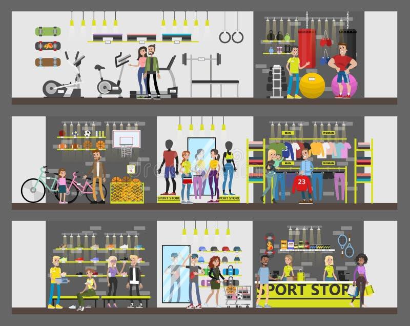 Sporta sklepu budynek ilustracja wektor