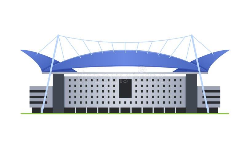 Sporta stadium dla futbolu i olimpiad, arena sportowa ilustracja wektor