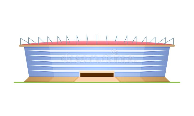 Sporta stadium dla futbolu i olimpiad, arena sportowa ilustracji