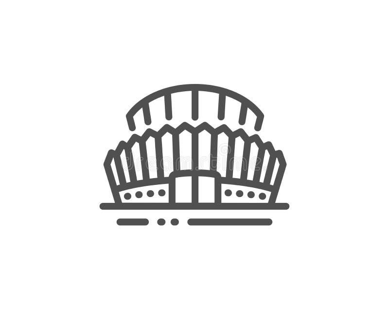 Sporta stadium linii ikona Arena znak Sporta kompleks wektor royalty ilustracja