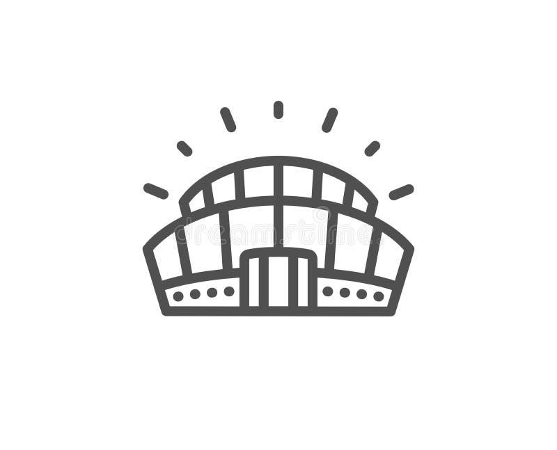 Sporta stadium linii ikona Arena znak Sporta kompleks wektor ilustracja wektor