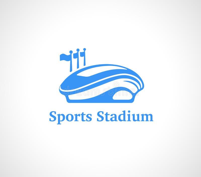 Sporta stadium logo w błękicie ilustracja wektor
