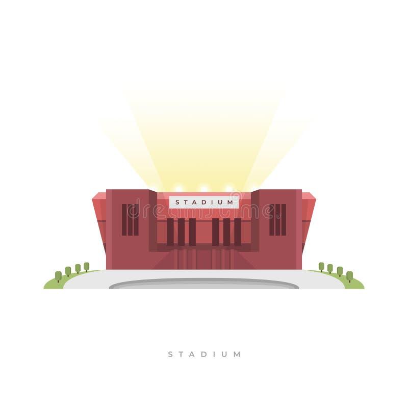 Sporta stadium, stadion futbolowy Frontowego widoku sporta areny powierzchowność ilustracji