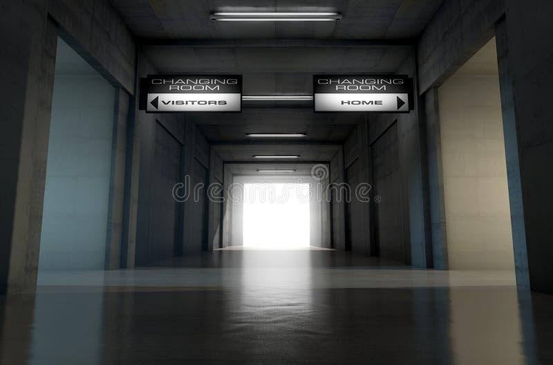 Sporta stadium tunel ilustracji