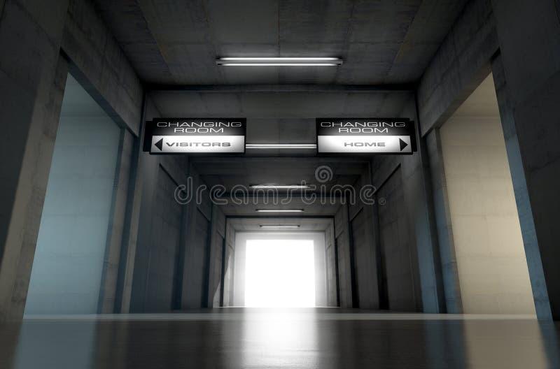 Sporta stadium tunel ilustracja wektor