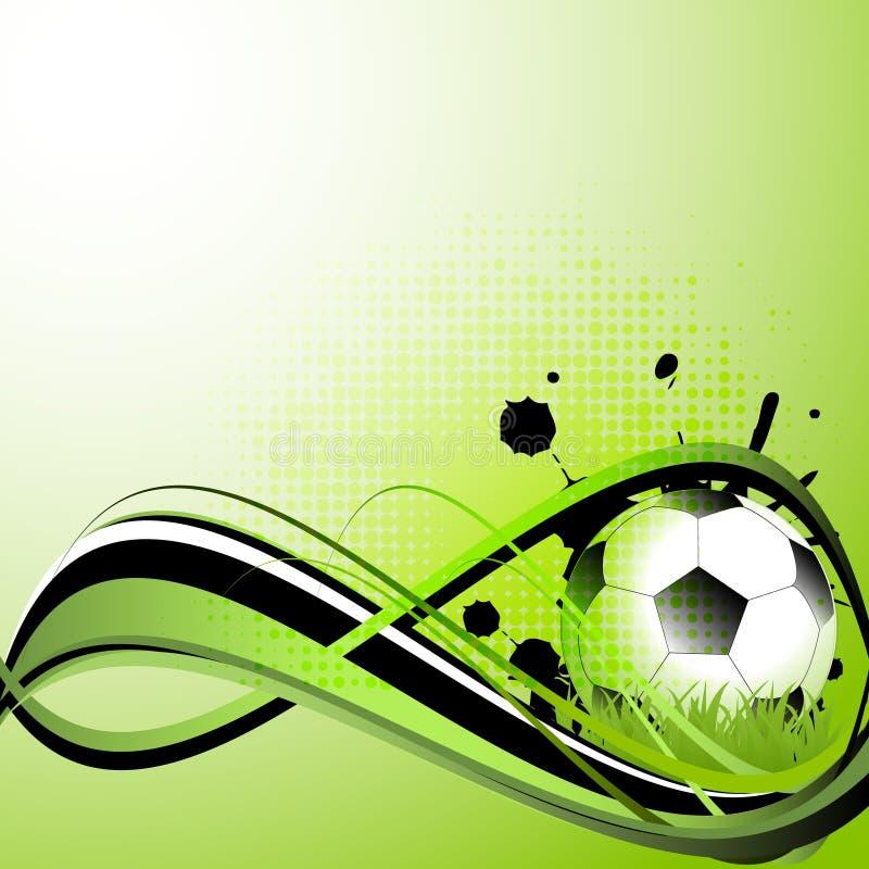 Sporta szablon z piłką nożną, futbolowa piłka ilustracja wektor