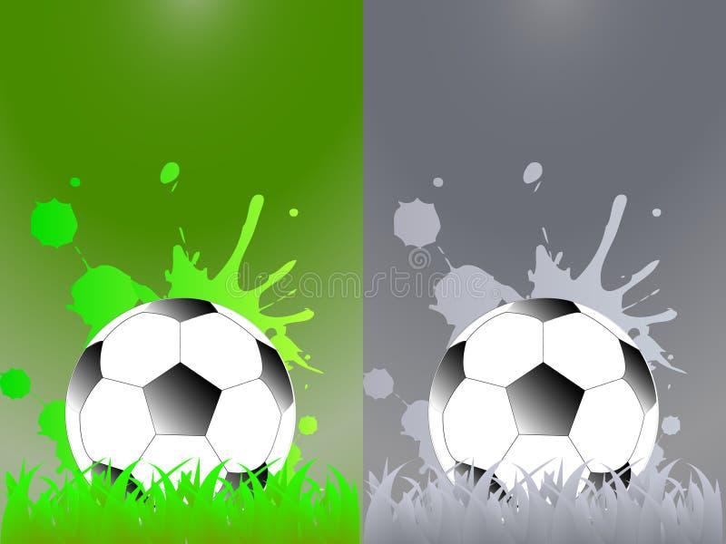 Sporta szablon z piłką nożną, futbolowa piłka royalty ilustracja