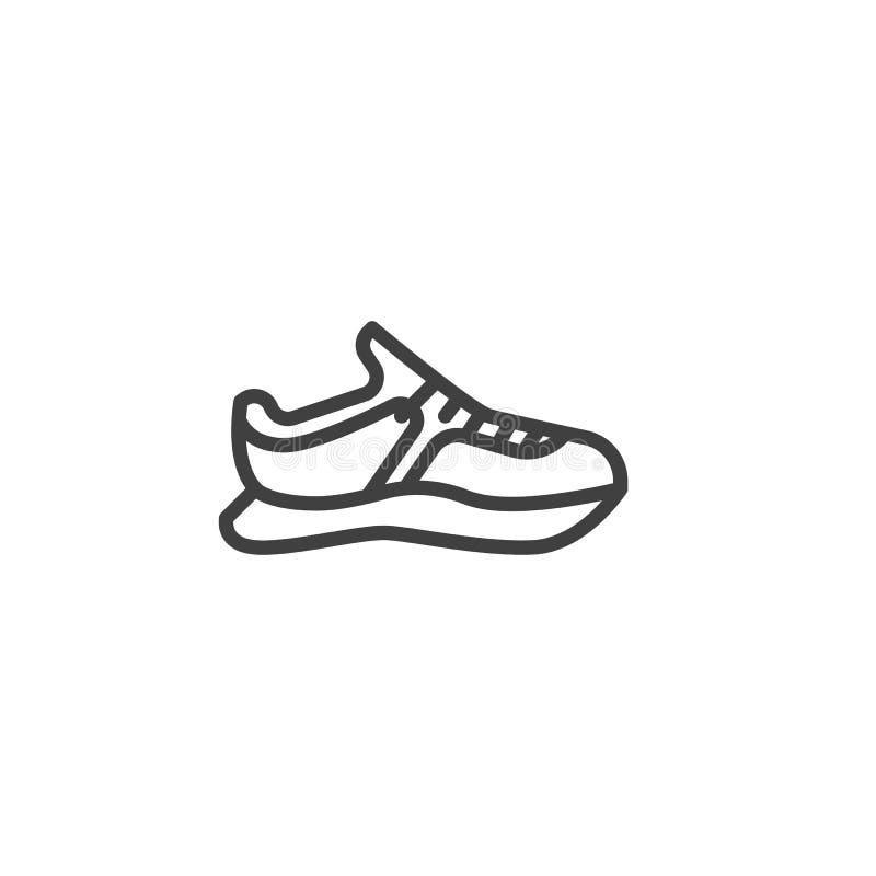 Sporta tenisówka linii ikona royalty ilustracja