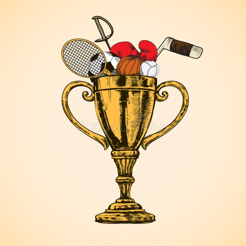 Sporta trofeum filiżanka ilustracji