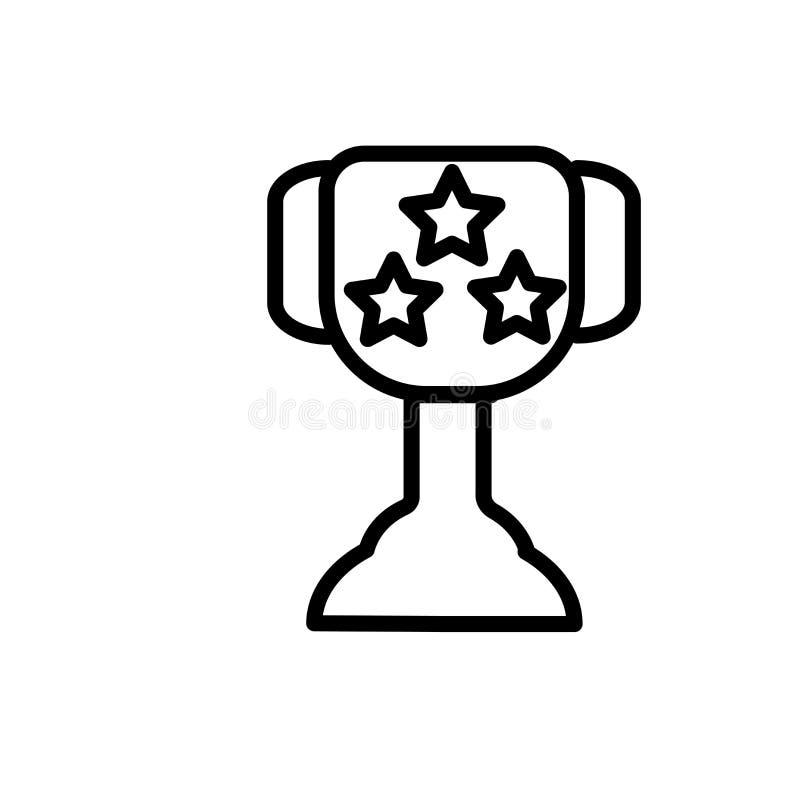 Sporta trofeum ikony wektoru znak i symbol odizolowywający na białym tle, sporta trofeum logo pojęcie royalty ilustracja