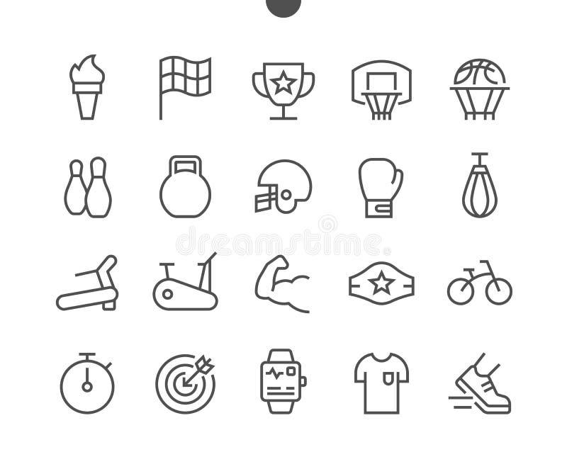 Sporta UI piksla wektoru ikon 48x48 Perfect Wykonująca ręcznie Cienka Kreskowa siatka dla sieci Apps i grafika Prosty Minimalny ilustracji