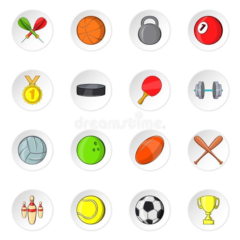 Sporta wyposażenia ikony, kreskówka styl royalty ilustracja