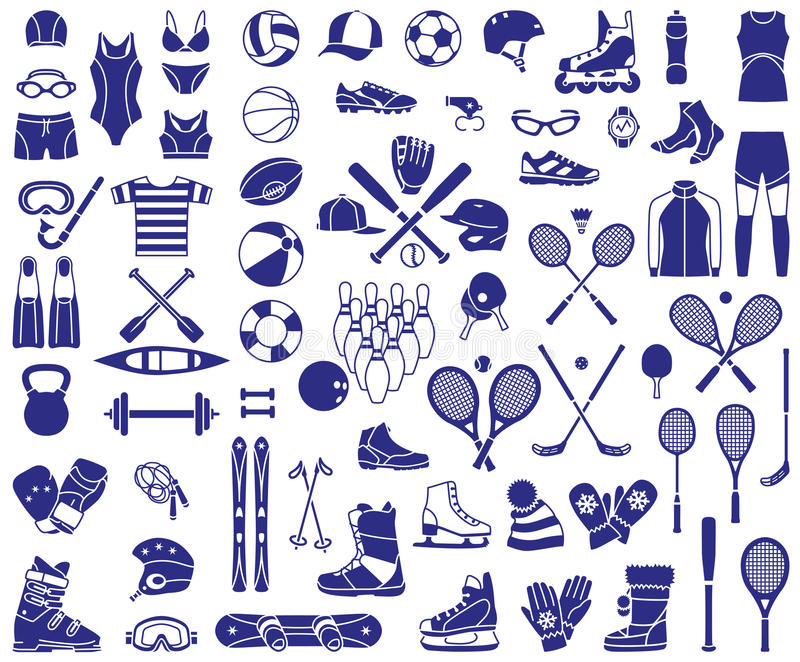 Sporta wyposażenie royalty ilustracja