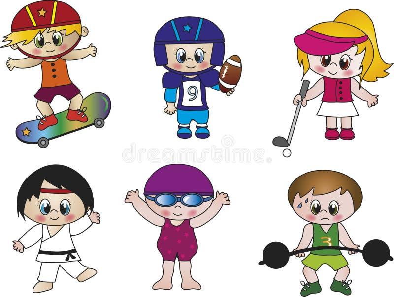 Sportar stock illustrationer