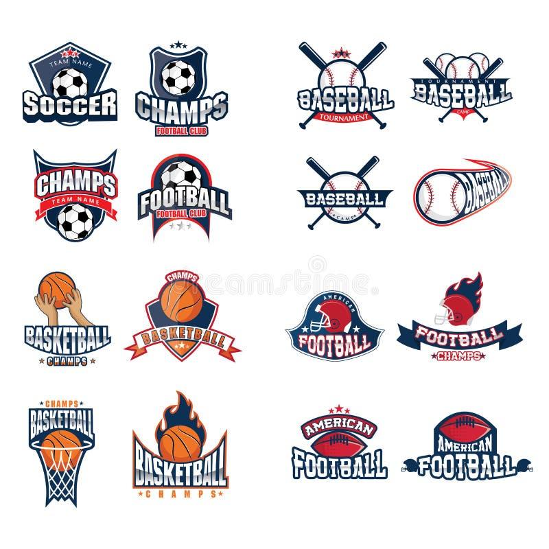 Sportar Logo Set royaltyfri foto