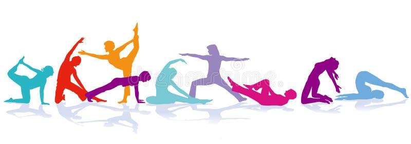 Sportar och gymnastikillustration royaltyfri illustrationer