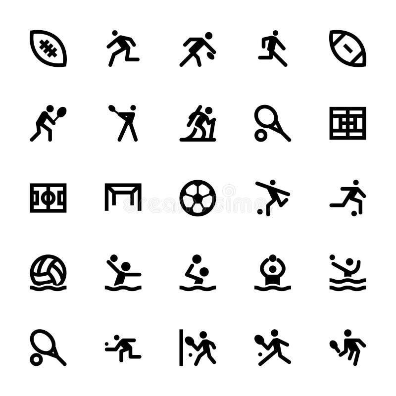 Sportar och lekvektorsymboler 14 royaltyfri illustrationer