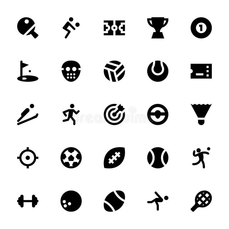 Sportar och lekvektorsymboler 1 stock illustrationer