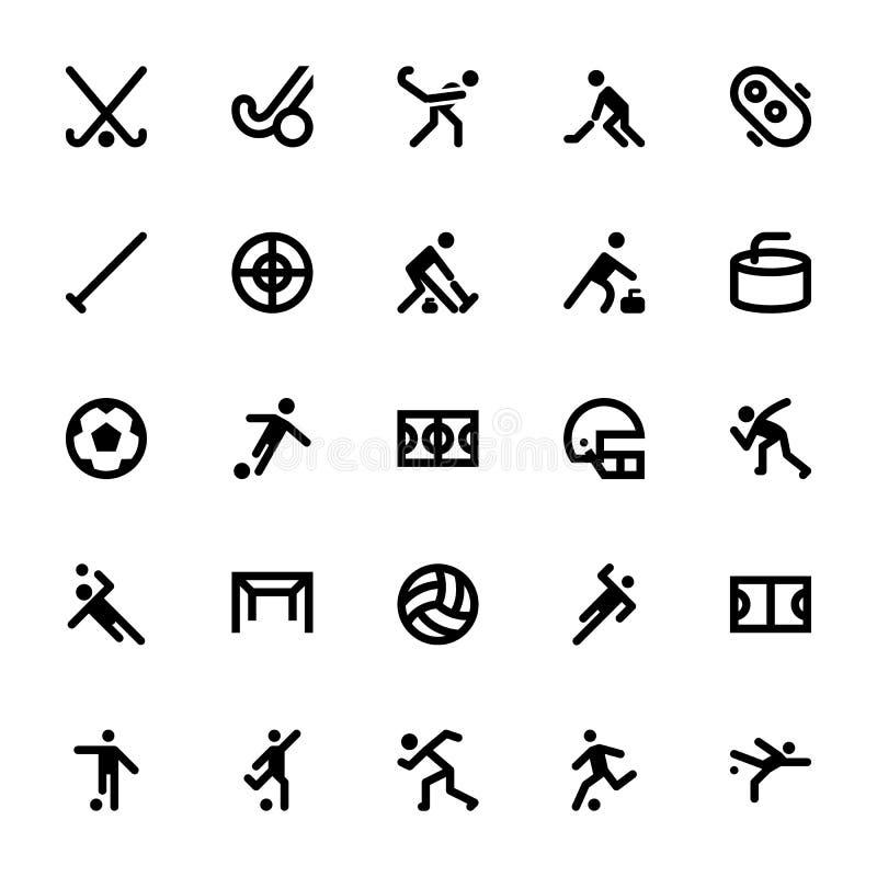 Sportar och lekvektorsymboler 10 stock illustrationer
