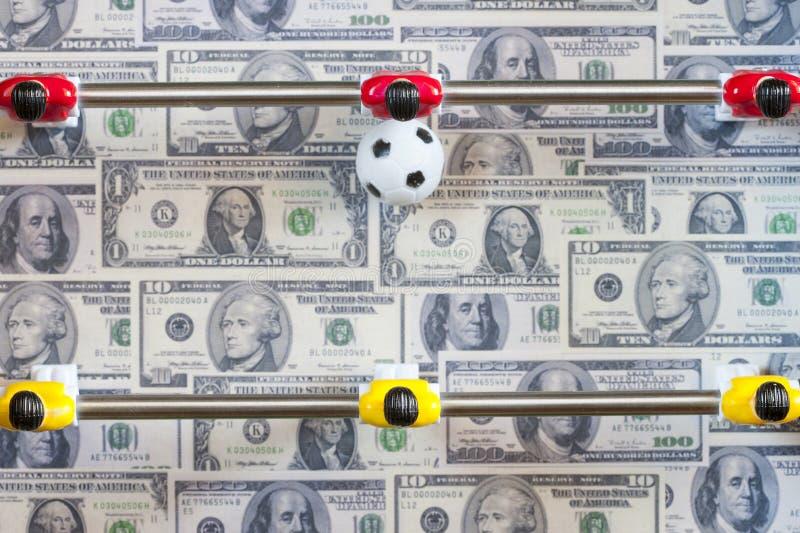 Sportar och pengar royaltyfri foto