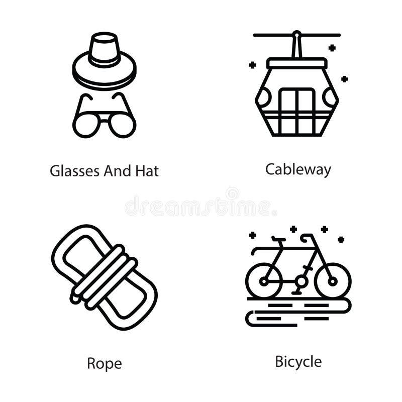 Sportar och roliga symboler royaltyfri illustrationer
