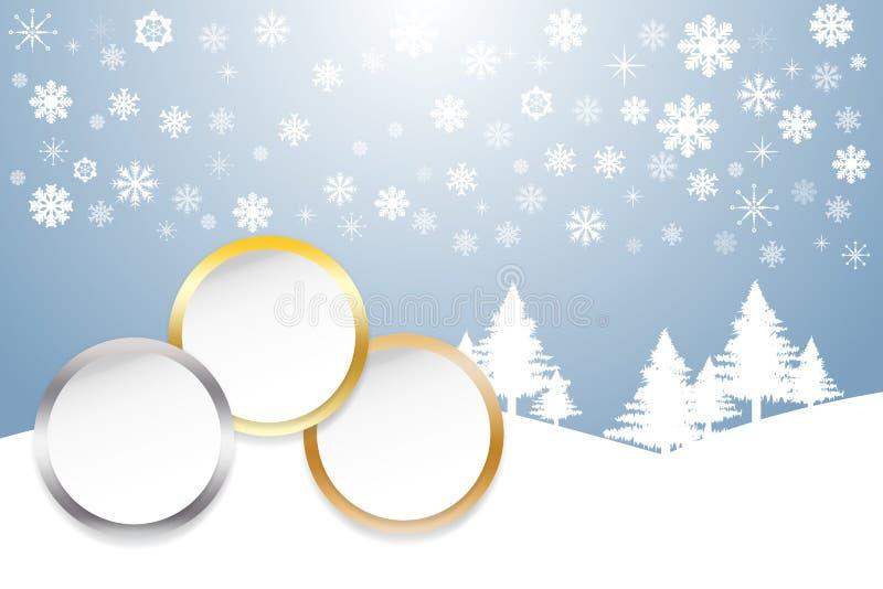Sportar rangordnar som cirklar för en vit med guld-, silver och bronzfärgat e stock illustrationer