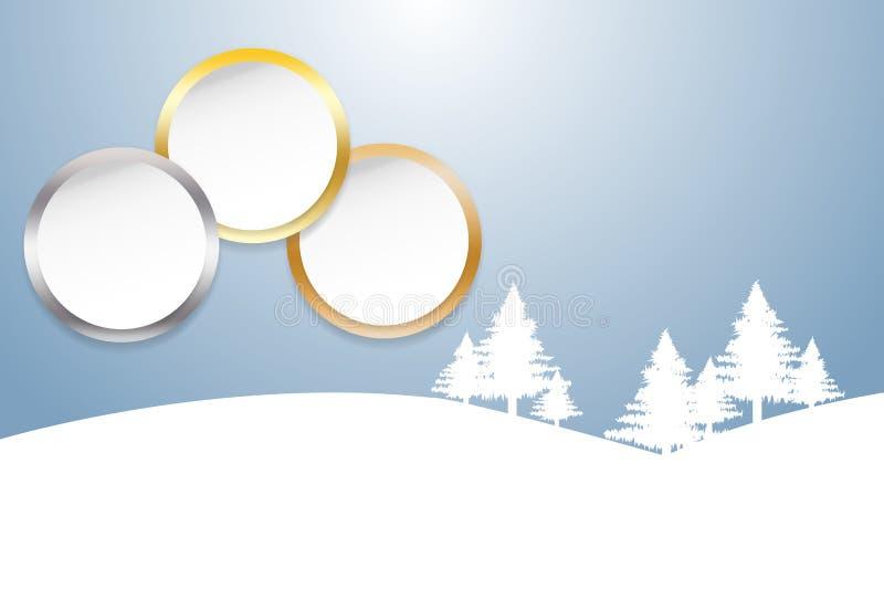 Sportar rangordnar som cirklar för en vit med guld-, silver och bronzfärgat e vektor illustrationer