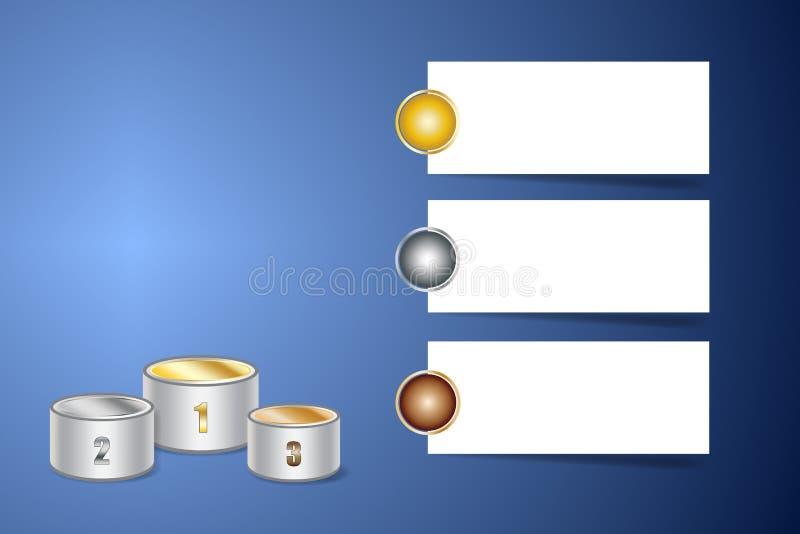 Sportar som är infographic med etappen av vinnare vektor illustrationer