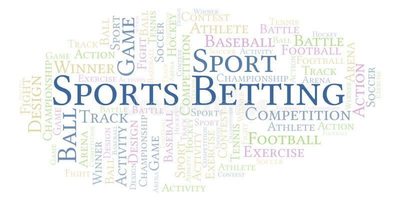 Sportar som slå vad ordmolnet vektor illustrationer