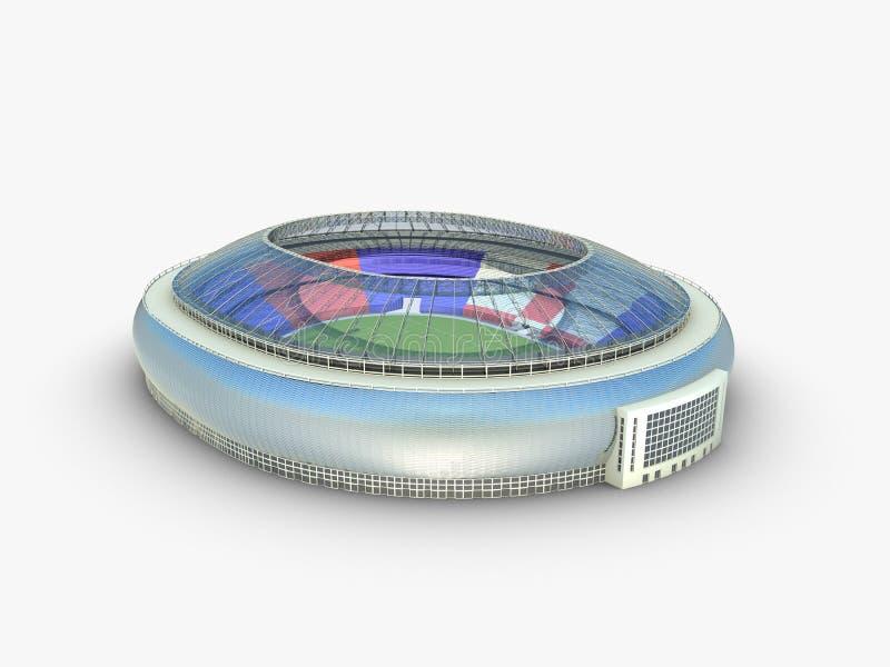 Sportarena. illustration för stadion 3d royaltyfri illustrationer