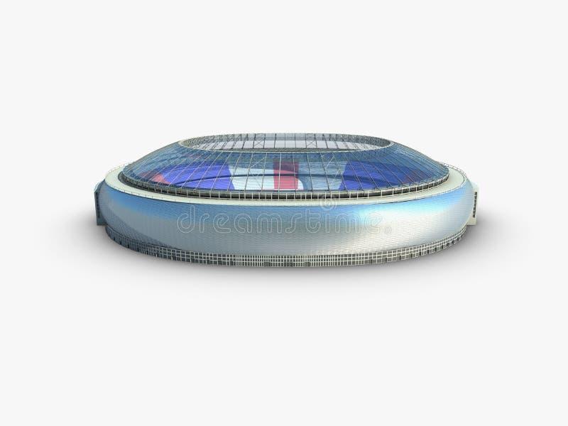 Sportarena. illustration för stadion 3d stock illustrationer