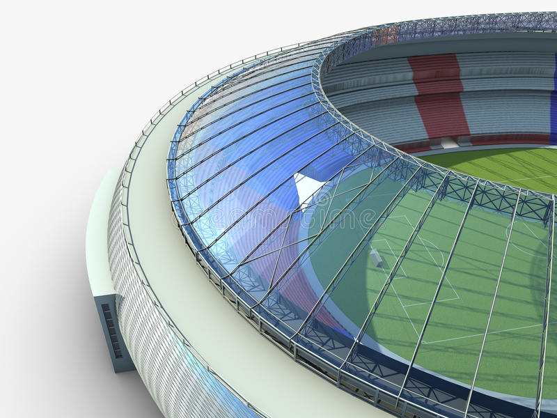 Sportarena. illustration för stadion 3d vektor illustrationer