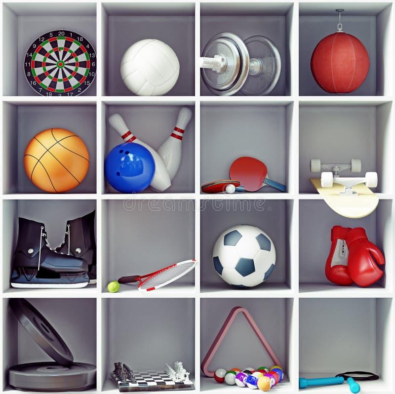 Sportausrüstung stock abbildung
