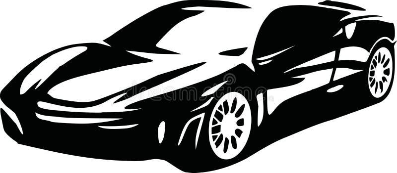 Sportauto-Clubemblem, Aufkleber und Stempelsatz vektor abbildung