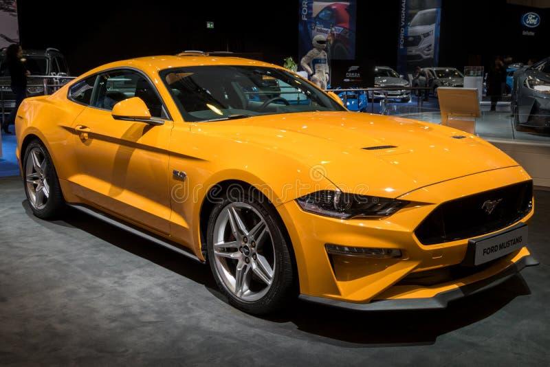 Sportauto 2018 Ford Mustangs GT lizenzfreies stockbild