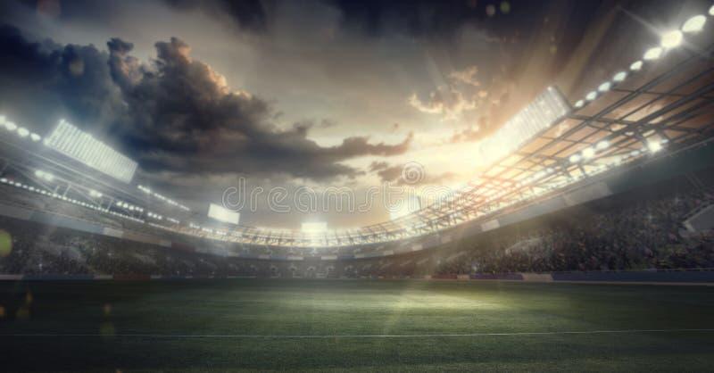 Sportbakgrund stadion för arenaregnsport royaltyfri illustrationer